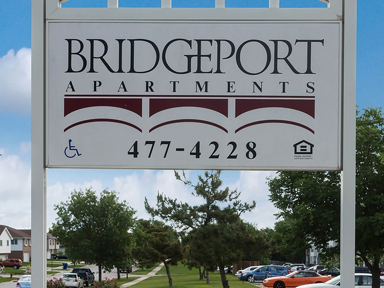 Property sign-Bridgeport Apartments Lincoln, NE