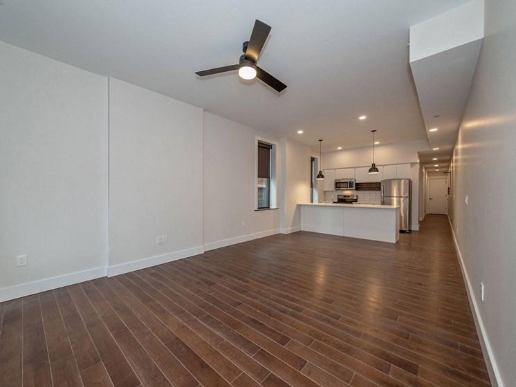 Apartment living area unfurnished-Columbia Flats Apartments Cincinnati, OH