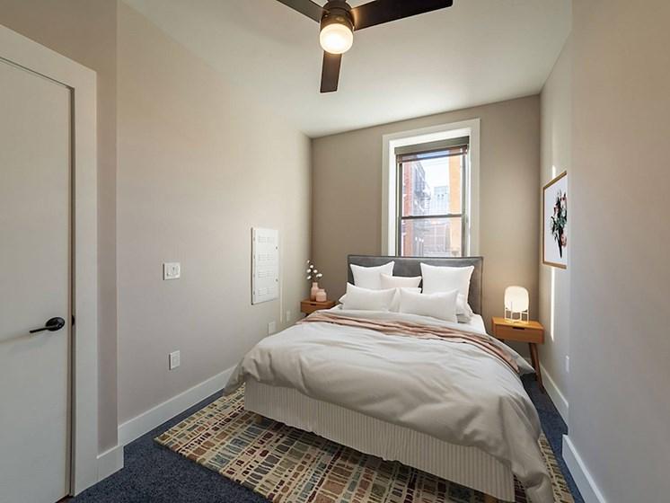 Furnished bedroom-Columbia Flats Apartments Cincinnati, OH