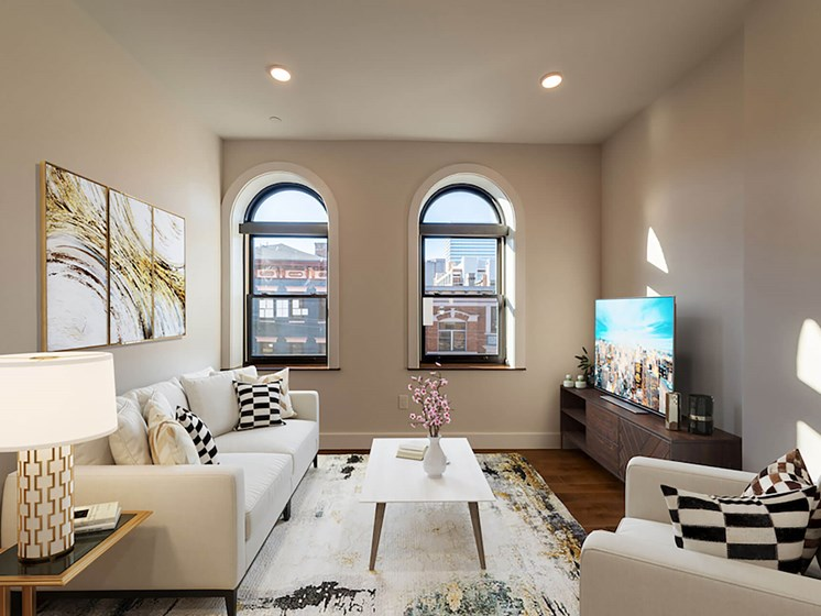 Furnished living room-Columbia Flats Apartments Cincinnati, OH