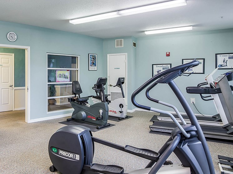 exercise machines at the fitness center_Lexington Club at Renaissance Square, Clearwater, FL