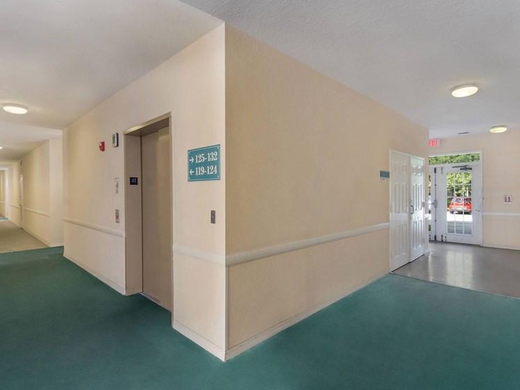 Apartment building hallway_Lexington Club at Renaissance Square, Clearwater, FL