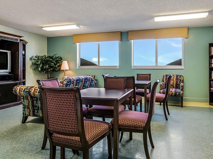 Activity room with tables and seats-Santa Clara II, Miami, FL