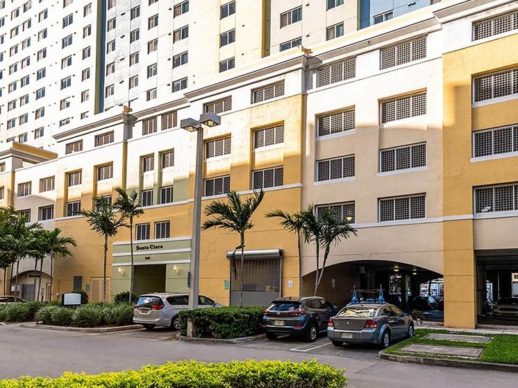 Apartment building entrance and exterior-Santa Clara II, Miami, FL