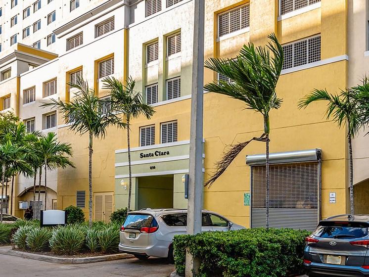Apartment building exterior entrance-Santa Clara II, Miami, FL