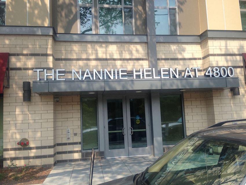Exterior front entrance-The Nannie Helen at 4800, Washington, DC