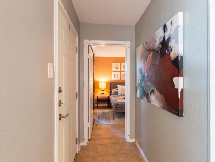 Apartment hallway-Paddock at Park Row, Arlington, TX