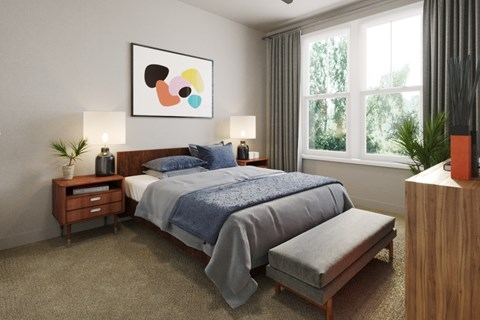 cozy bedroom with lots of space
