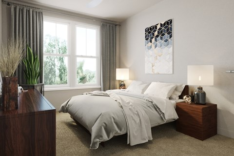 bedroom filled with natural light!