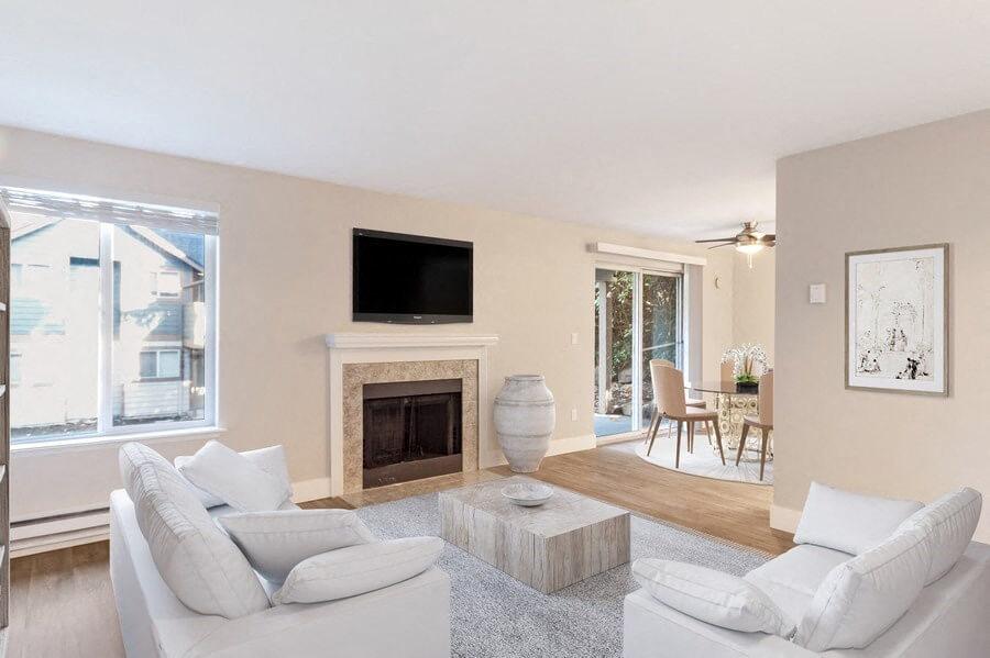 Model living & dining room