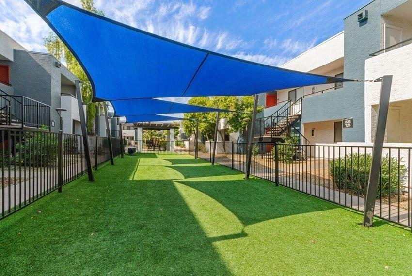 Covered dog park