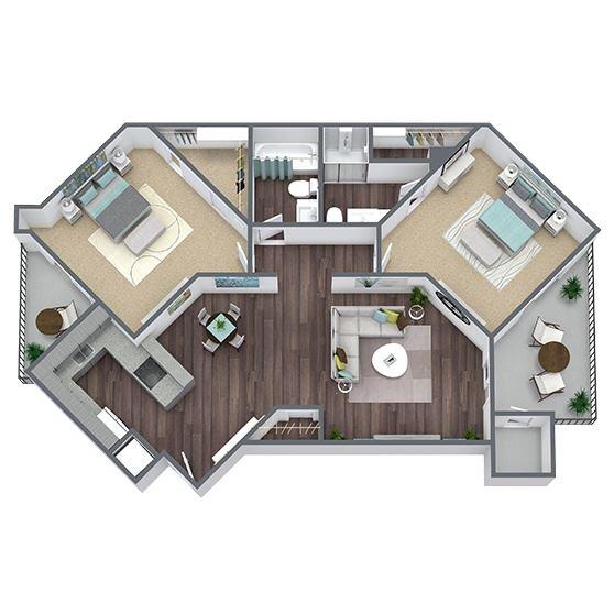 B1 Floor Plan 2x2