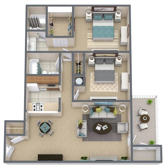 B1 Floor Plan 2x1.5