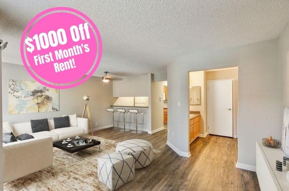 $1000 off first month's rent new move-in special