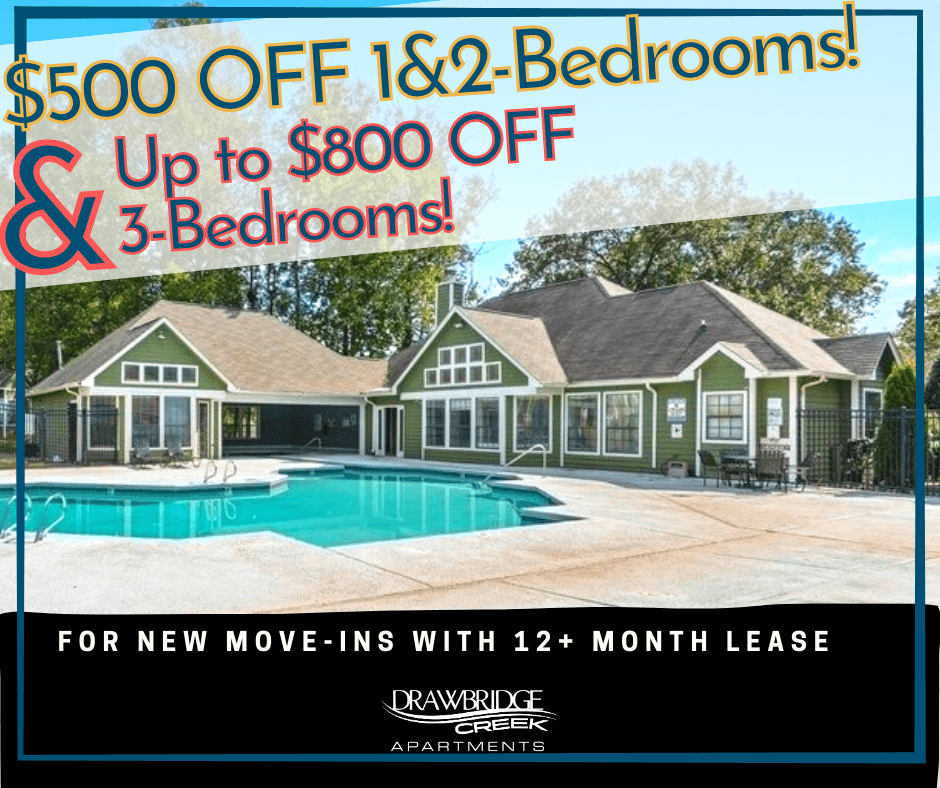 $500 OFF 1&2-Beds & Up to $800 OFF 3-Beds For New Move-Ins with 12+ Month Lease