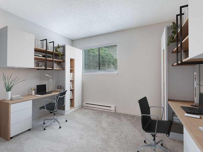 Home office in 2nd bedroom at Grammercy Apartments
