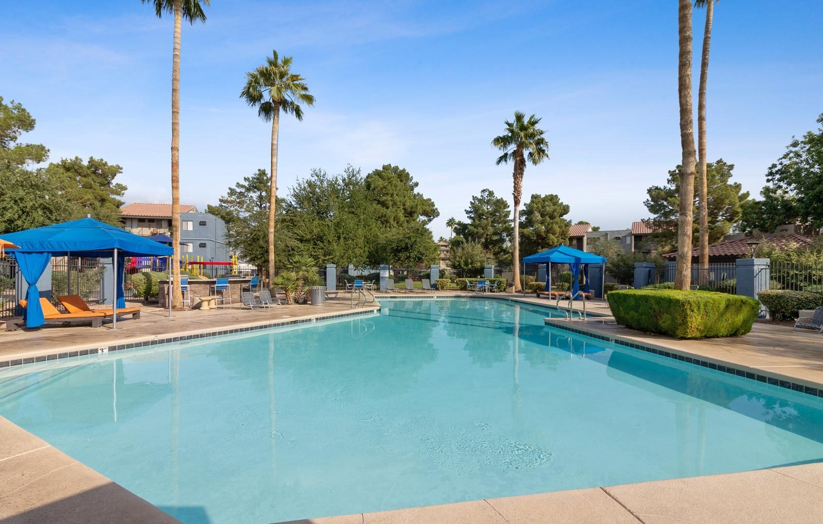 Swimming pool at Ridge on Charleston Apartments