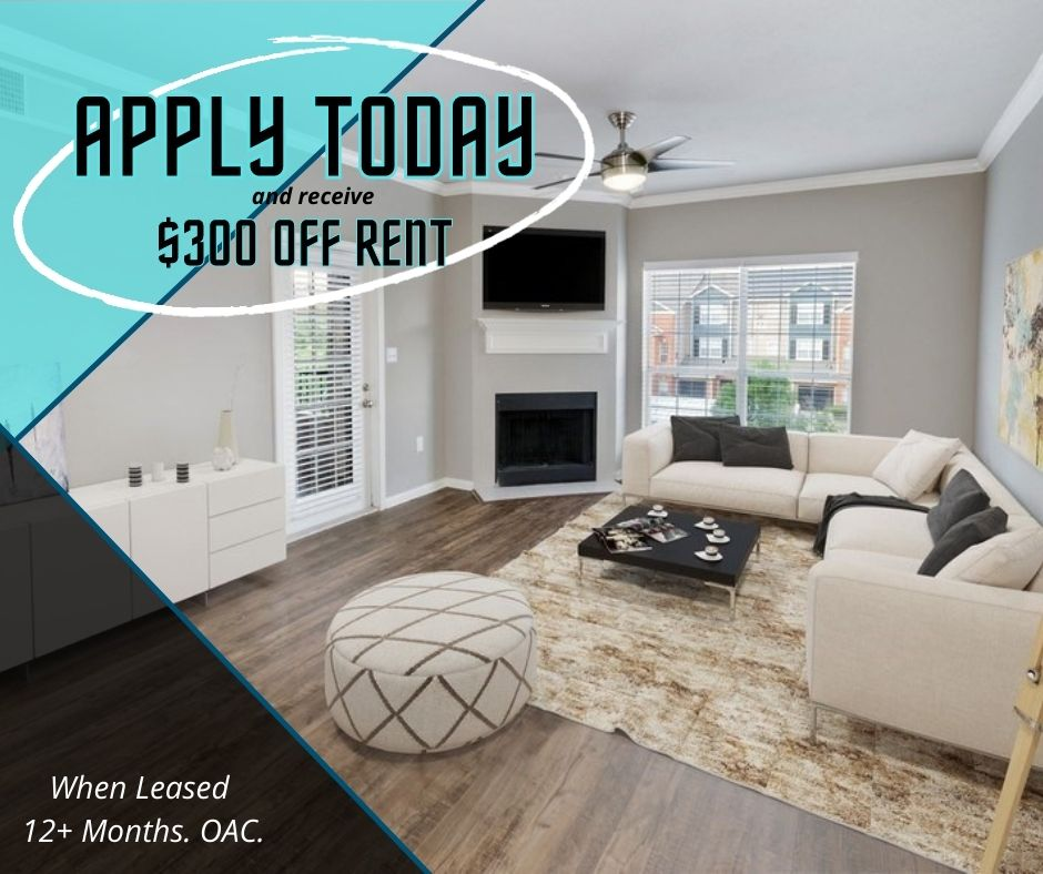 Get $300 off with a 12+ month lease. For new-move-ins only.