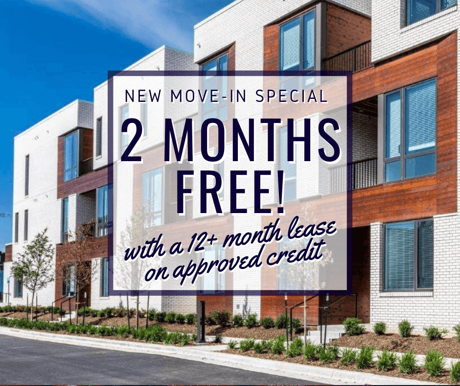 new move in special. 2 free months of rent with a 12 plus month lease, on approved credit.