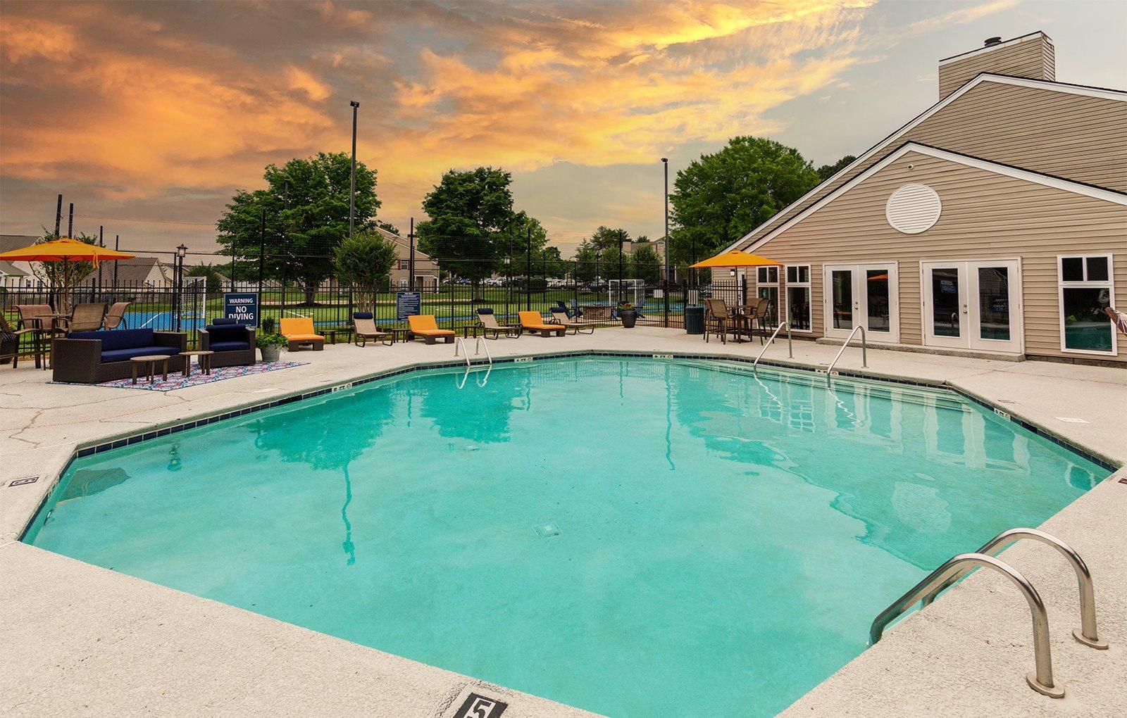 Priest Lake pool at sunset