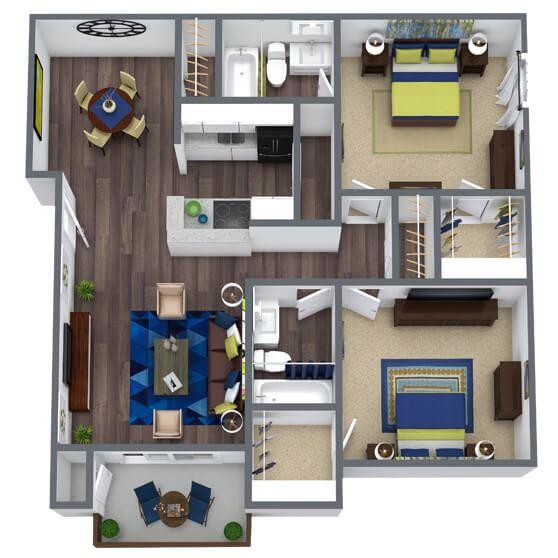 Oxford Peak Floor Plan 2x2