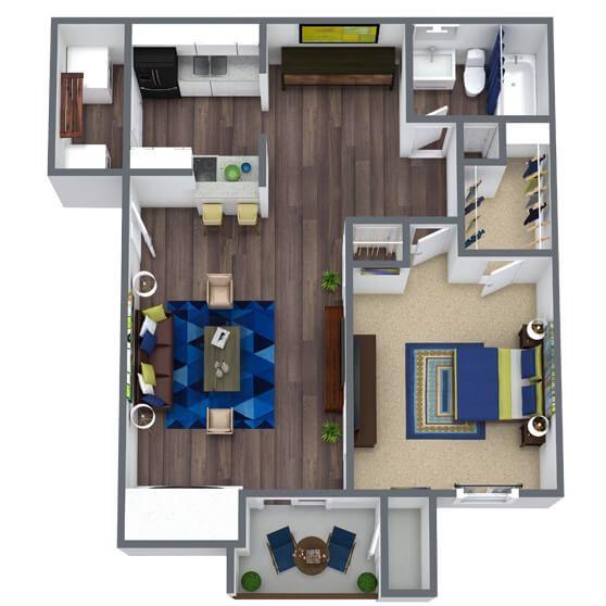 Sierra Ridge Floor Plan 1x1
