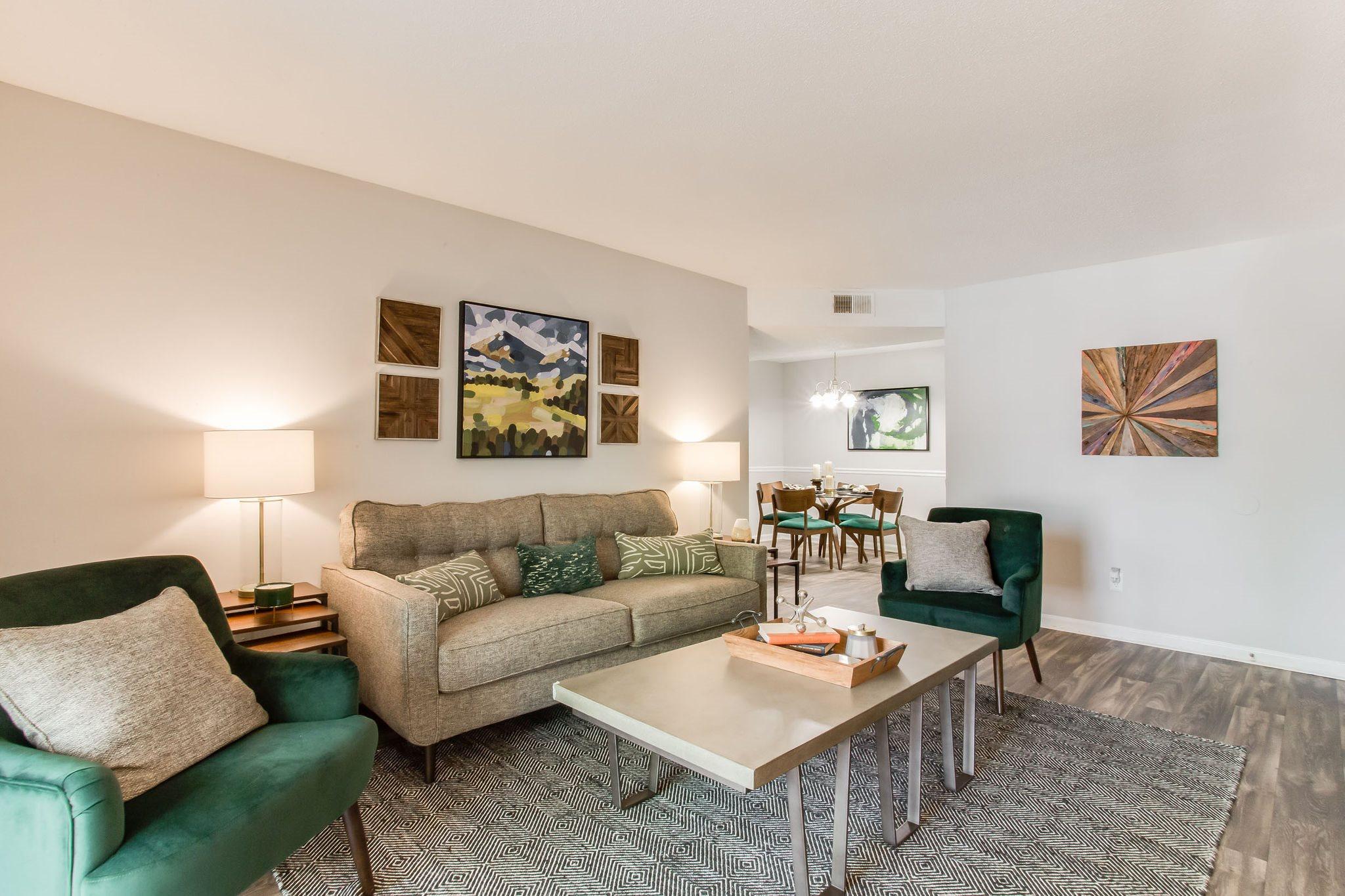 living room of model