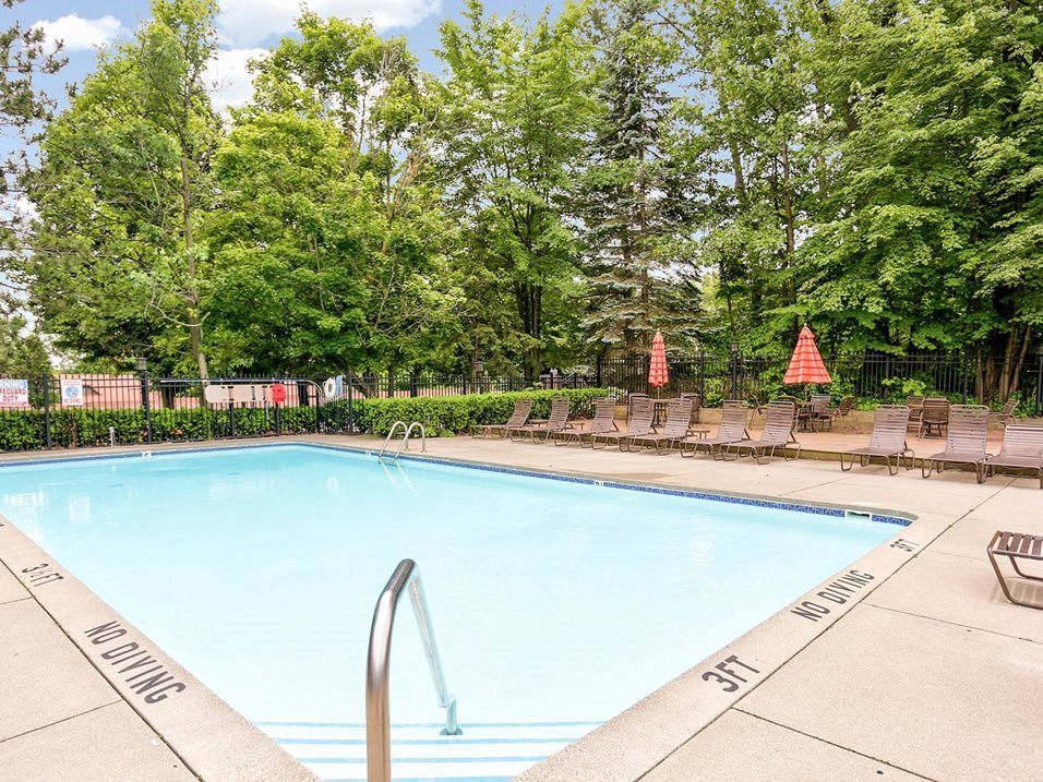 Outdoor Swimming Pool at Timber Ridge Apartments in Wyoming, MI