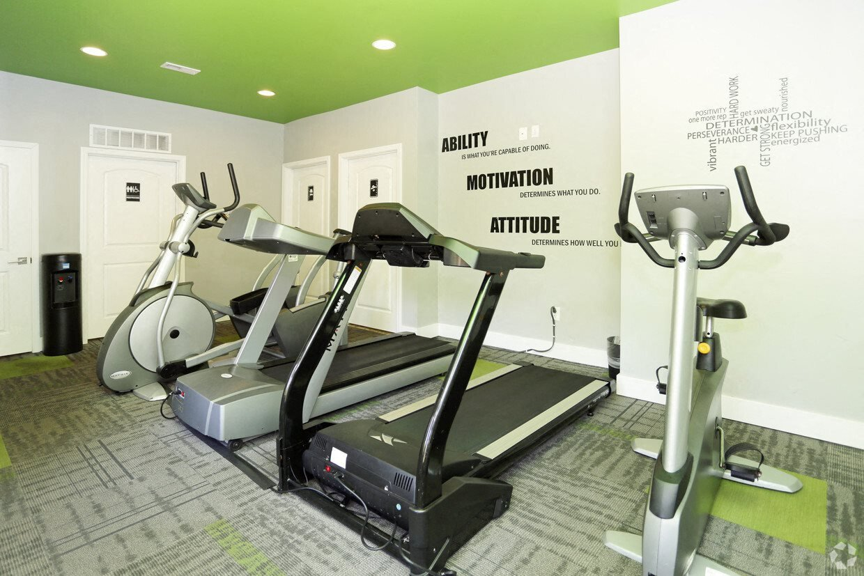 Fitness Center with treadmill, stationary bikes