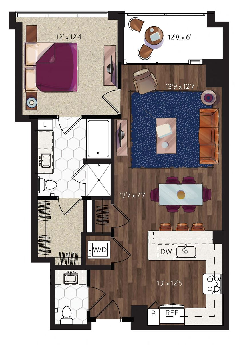 Dallas 1 bedroom apartment