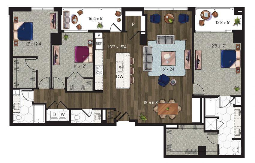 3 bedroom dallas apartment home