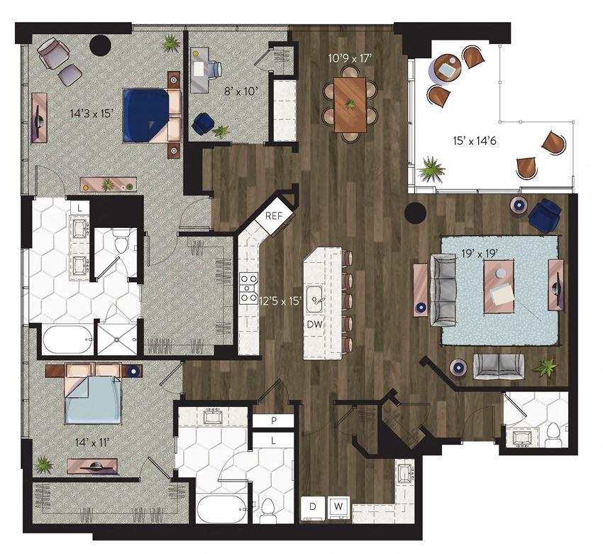 Dallas penthouse apartment