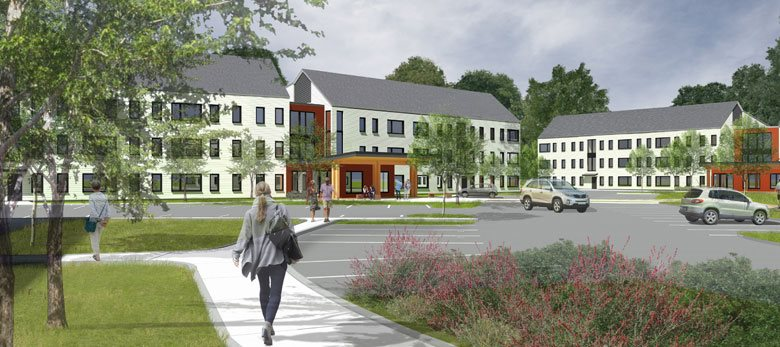 Architectural Rendering of Oak Tree Village
