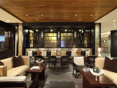 Lounge with multiple seating areas