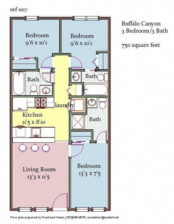 3 Bedroom 3 Bathroom Floor Plan