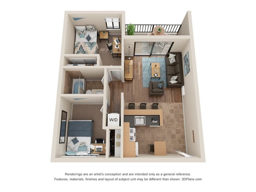 2 Bed 1 Bath - Middle Floor