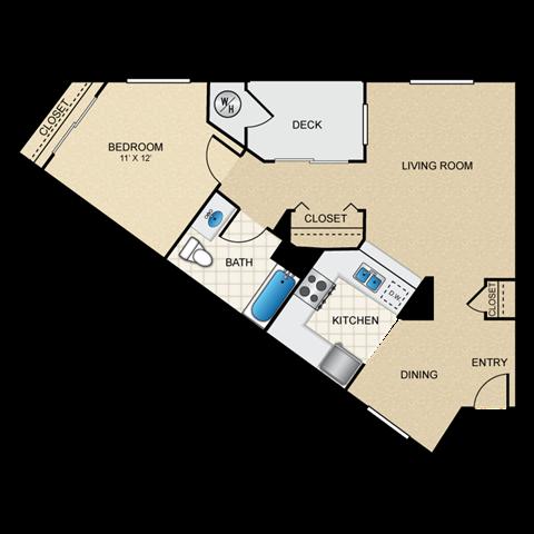 1/1 B floorplan
