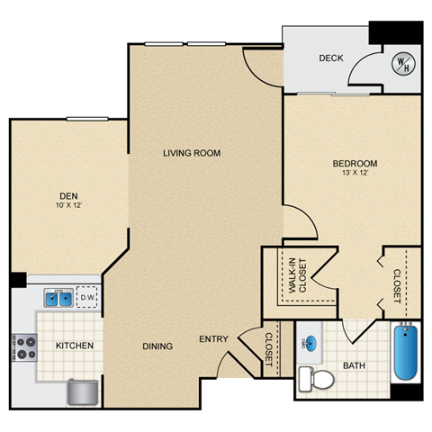 1/1 C floorplan