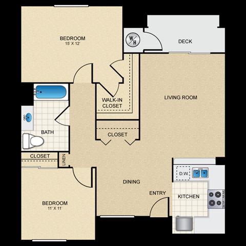 2/1 B floorplan