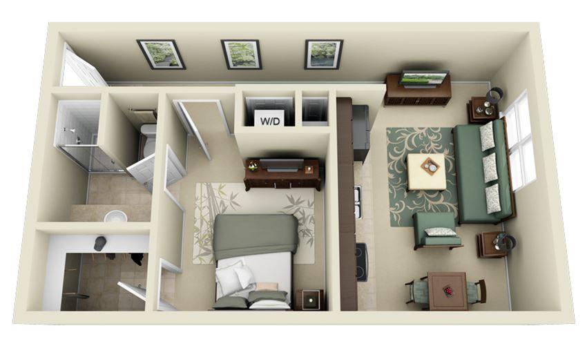 A1 Floor Plan at Carolina Point Apartments, Greenville, SC