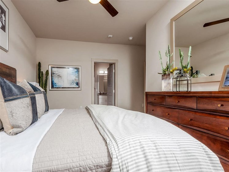 Spacious bedrooms that will fit a kingsized bed.