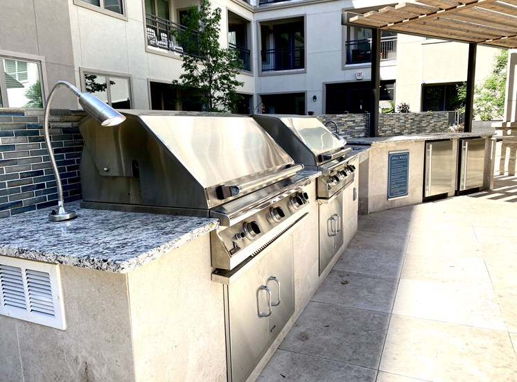 Grill Station at Pool