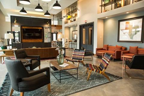 Resident lounge built for entertaining.