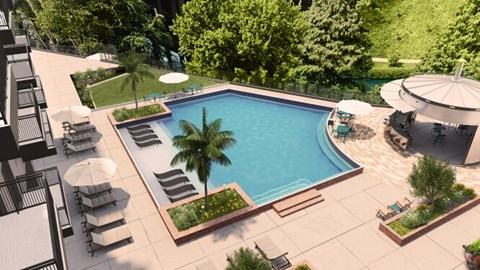 Cool Blue Swimming Pool, at Southline Residences, Texas