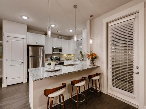 Fully Equipped kitchen at Kelley at Samuels Ave, Ft Worth, Texas