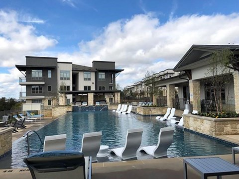 Entertainment Lounge By Pool at Kelley at Samuels Ave, Ft Worth, TX, 76102