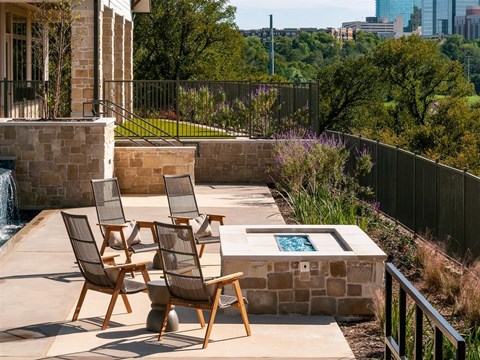 Outdoor Intimate Seating Area at Kelley at Samuels Ave, Texas, 76102