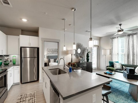 Stainless steel appliances at Kelley at Samuels Ave, Ft Worth