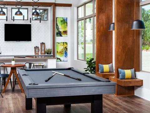 Billiards Table In Game Room at Kelley at Samuels Ave, Texas