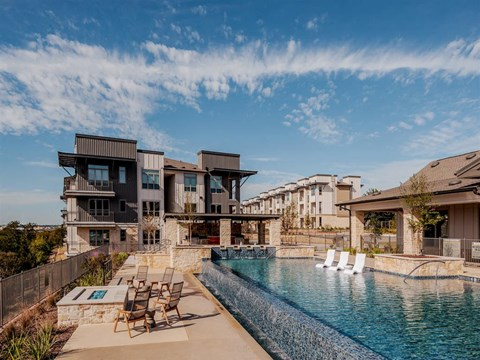 Swimming Pool And Relaxing Area at Kelley at Samuels Ave, Texas